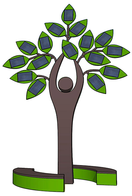 Экологическая арт-композиция «Солнечное дерево»